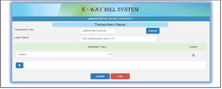 how to manage masters on e-way bill portal - 4