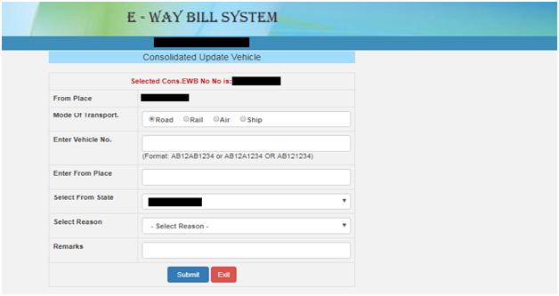 Eway Bill System