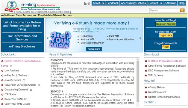 Check ITR Status Online