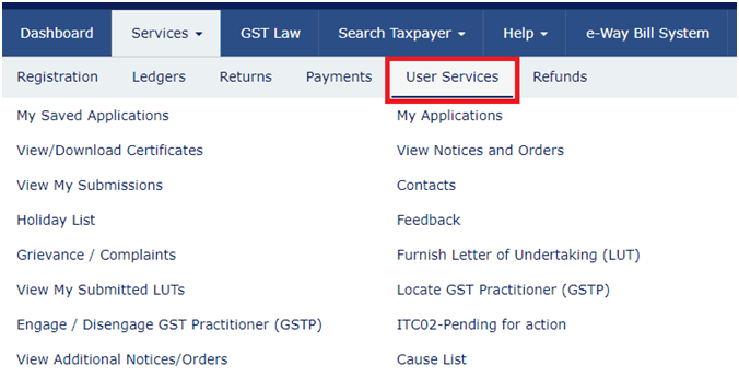 Government GST Portal Login
