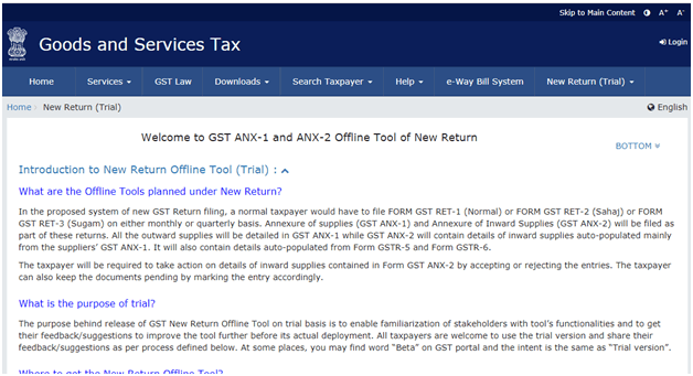 New GST Return Form
