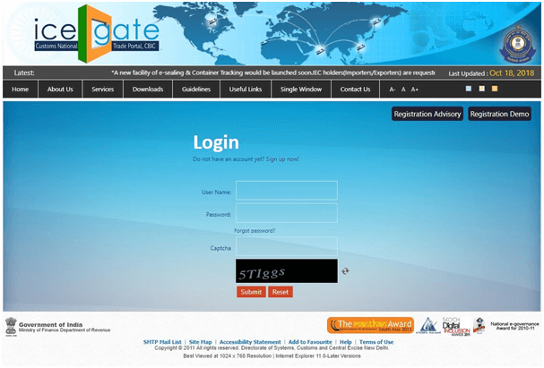 ICEGATE Portal