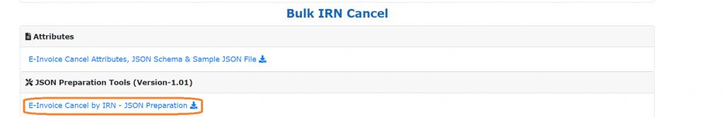 Bulk IRN Cancellation