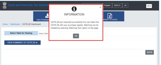 Matching Offline Tool GSTN