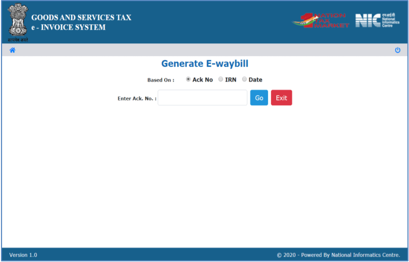 Generate E-Way Bill Under The New System