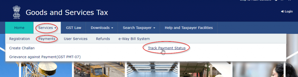 Track GST Payment Status Online