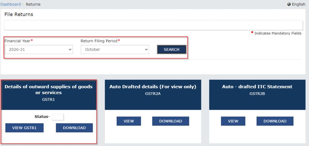 Download Auto-Populated E-Invoice Details