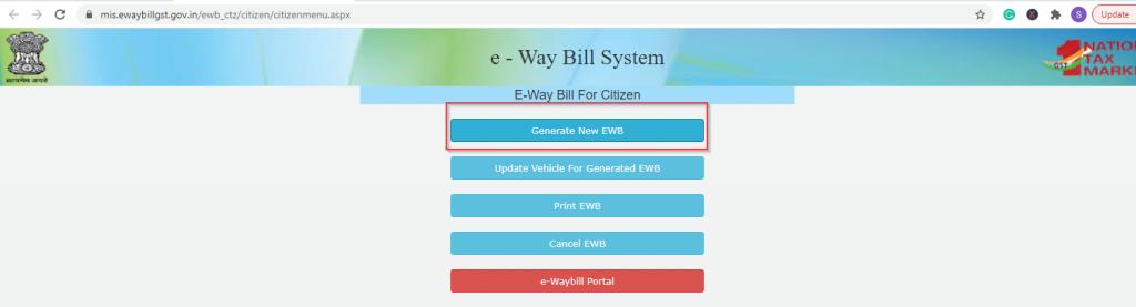 Generate E-Way Bill