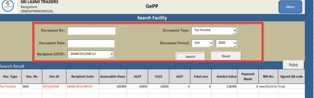 Additional Features In GePP Tool