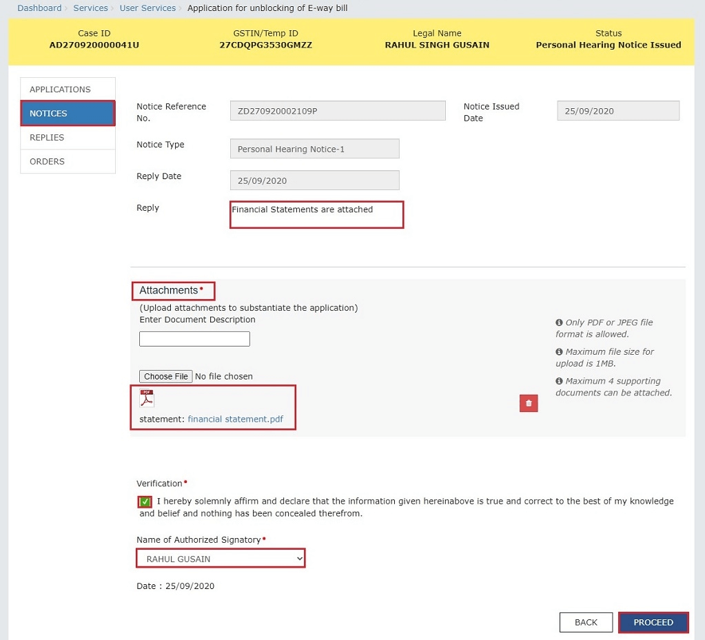How To View and Reply To Notices Related To GST EWB-05