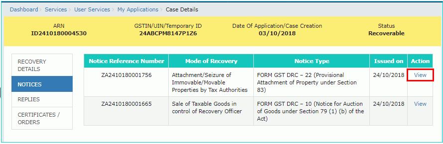 Form GST DRC-22