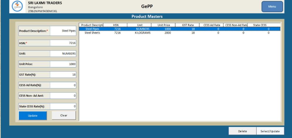 Generate E-Invoice On GePP Tool