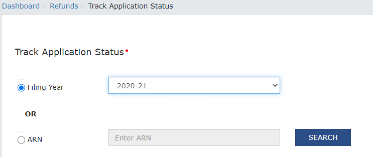 Track Status Of Refund Application After Login