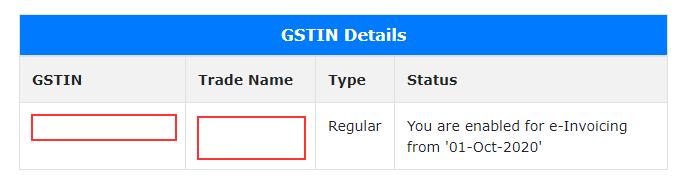 GSTIN Details
