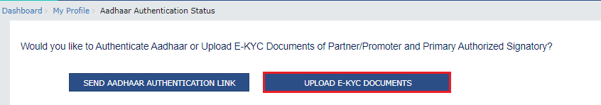 e-KYC For Existing Taxpayers On GST Portal